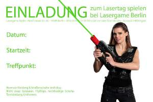 Einladung Lasertag