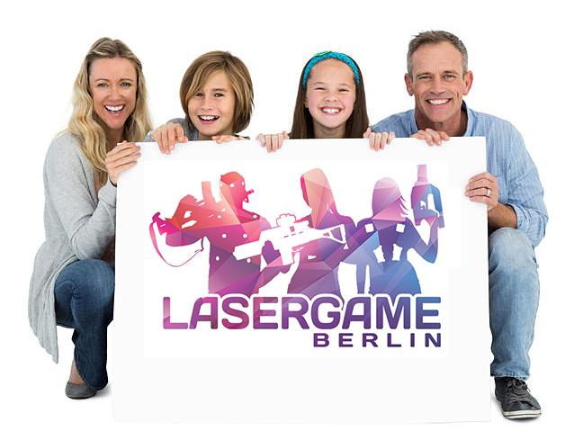 Lasertag Familie