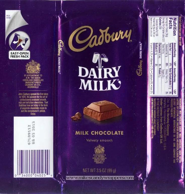 Dairy Milk Wrapper