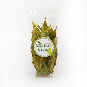 foglie di alloro selvatico essiccate