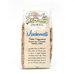 maccheroni integrali di grano saragolla in confezione da 500g