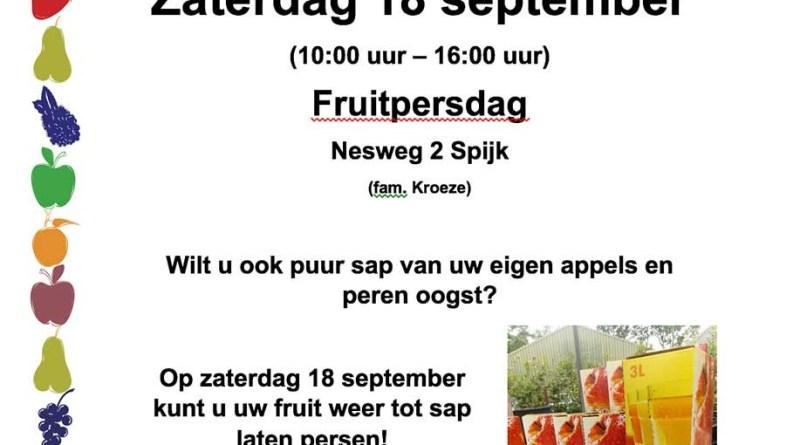 tuinfair en fruitpersdag 2021