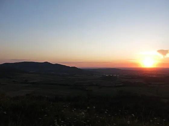 Sonnenuntergang auf der Limburg