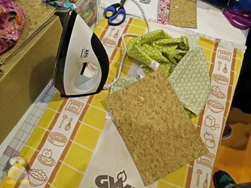 Beim BastelZirkus, Vorbereitung für das Täschchen