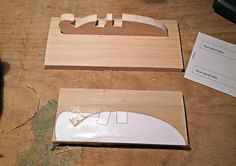 Vorlage Tablet Halter Holz