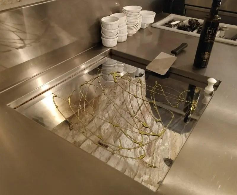 Kochplatte mit Öl