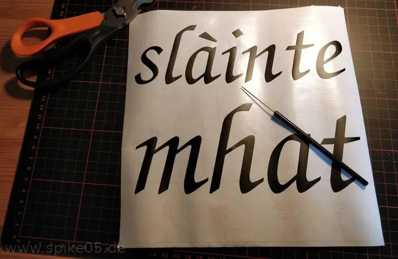 Schrift entgittern 3D Bilderrahmen