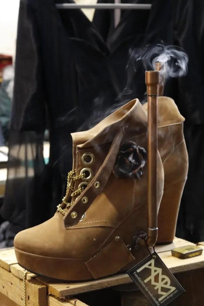 Steampunk Schuhe Rauch