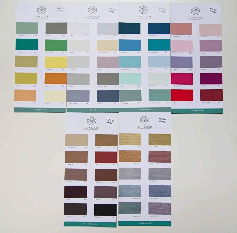 Farbtonkarten von Lignocolor