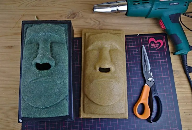 Zuschnitt Moai Form Worbla