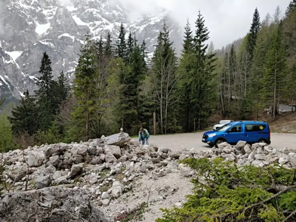 Kurz nach dem Pass Slowenien