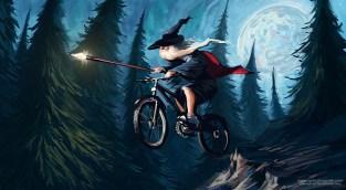 wizard on bike