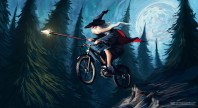 wizard on bike