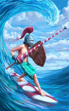 A knight surfing