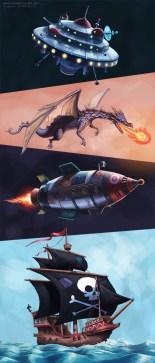 A werewolf, a wizard, a biplane and a