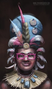 A tribal beauty in silly glasses