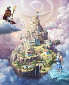 An illustration of mount Olympus
