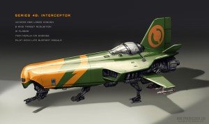 Space fighter concept art