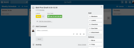 Trello Due Date Completed