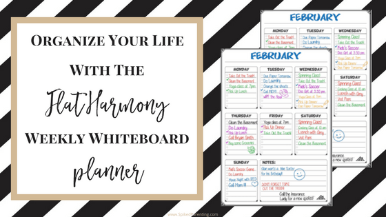 Organize Your Life with the Flat Harmony Weekly Whiteboard Planner