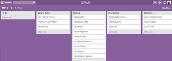 Trello Move Categorized