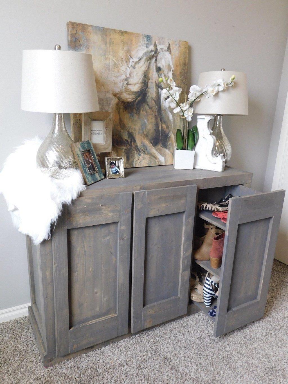 Hidden Shoe Cabinet by Handmade Haven