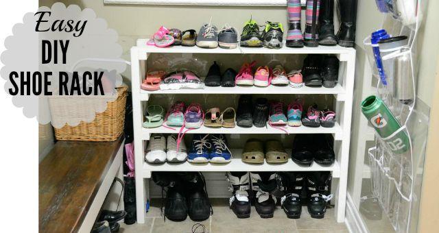 DIY Shoe Rack from 100 Things 2 Do