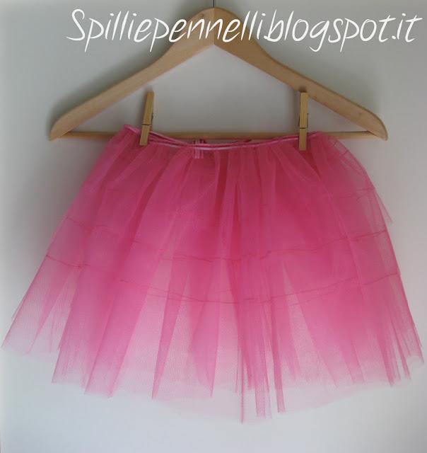 Gonna in tulle rosa per una ballerina in erba!