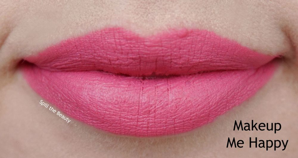 too faced peach kiss moisture matte long wear lipstick swatches review makeup me happy