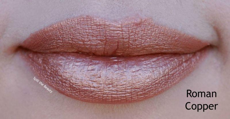sleek makeup major matte metallic lip cream roman copper swatches comparison dupe