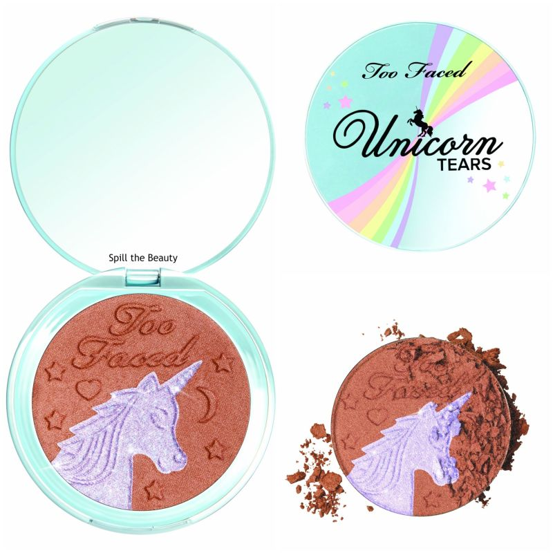too faced lifes a festival collection unicorn tears irridescent mystical bronzer