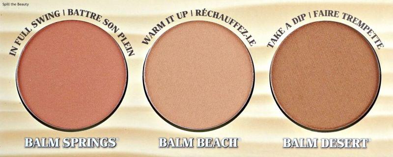 thebalm girls getaway trio blush bronzer review swatches