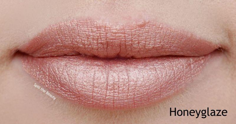 wet n wild liquid catsuit metallic liquid lipstick review swatches honeyglaze