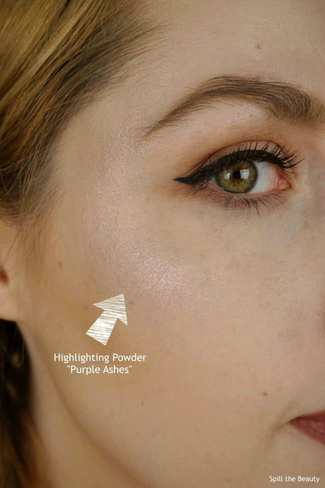 wet n wild goth o graphic swatches review highlighters purple ashes