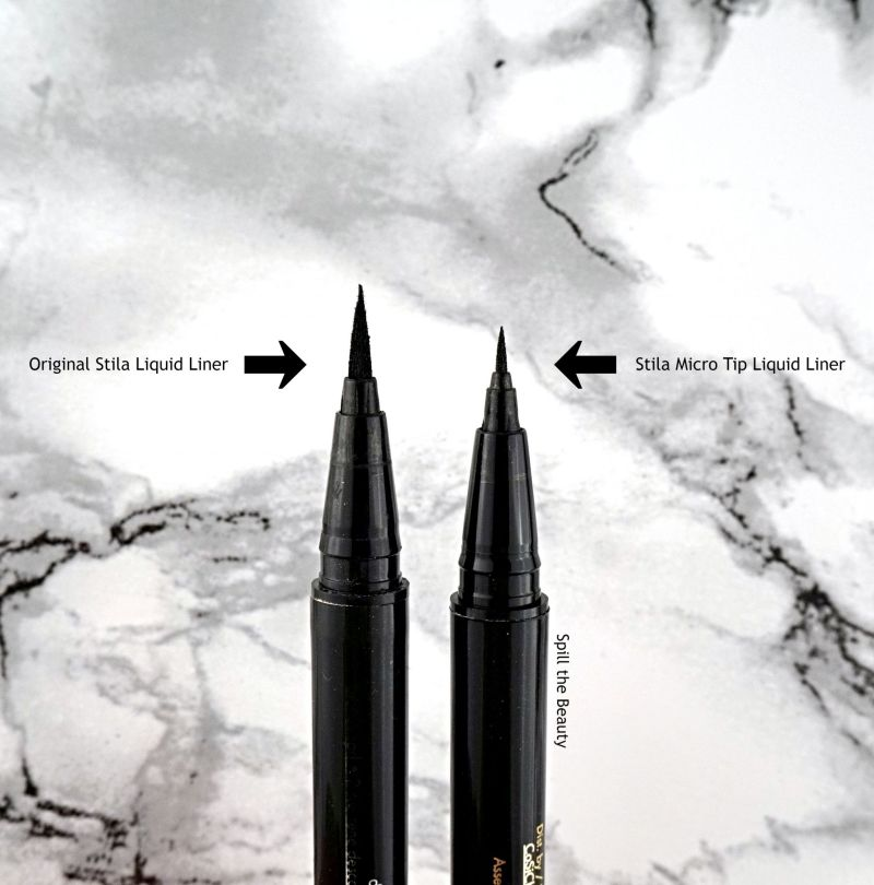 stila stay all day waterproof liquid liner micro tip review swatches comparison
