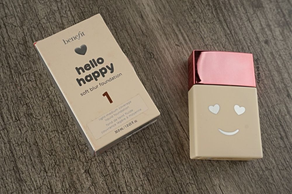 """Benefit """"Hello Happy"""" Soft Blur Foundation – Review, Swatches, Before & After"""
