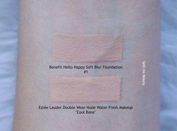 benefit hello happy soft blur foundation review swatches before and after