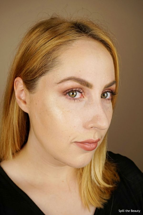 mac extra dimension skinfinish whisper of gilt review swatches comparison drugstore dupe