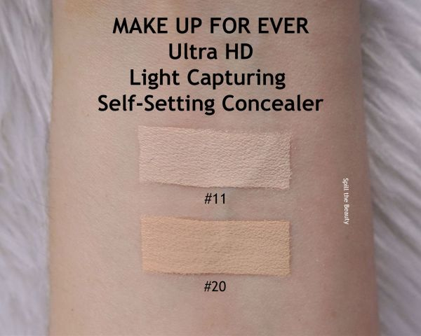 make up for ever self setting concealer 20 review swatches before and after
