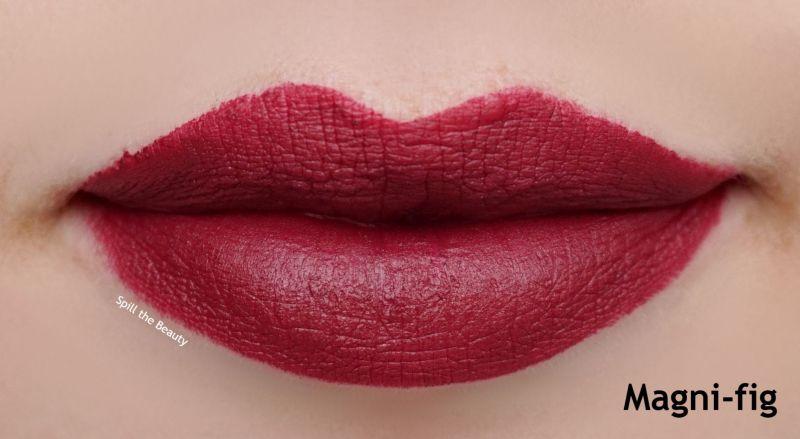 bourjois magni-fig rouge velvet lipstick swatches