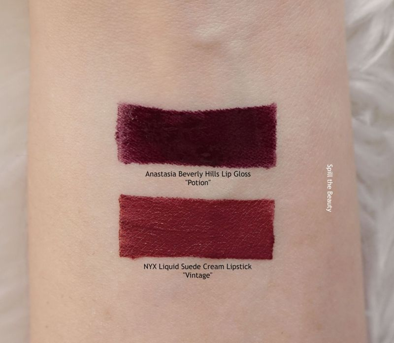 abh lip gloss potion swatches