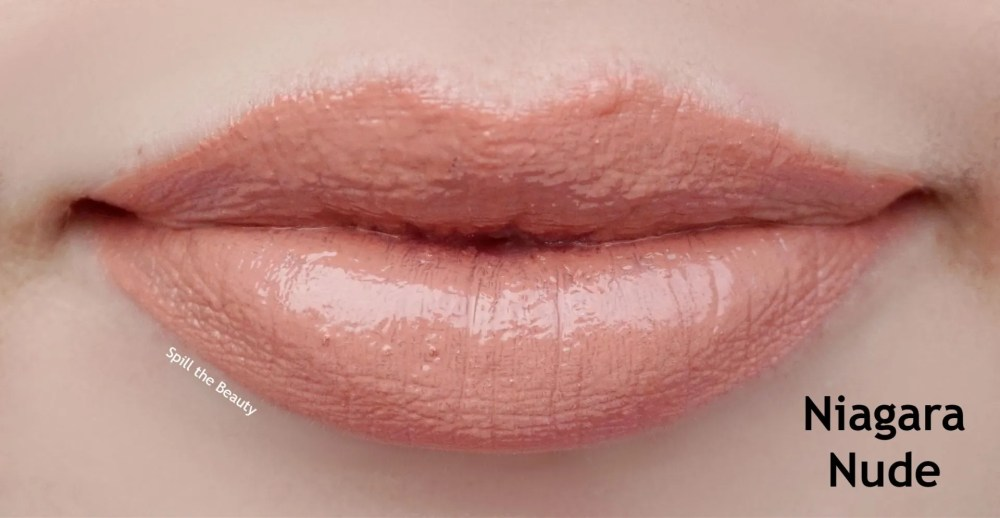 burts bees niagara nude liquid lipstick lip swatch