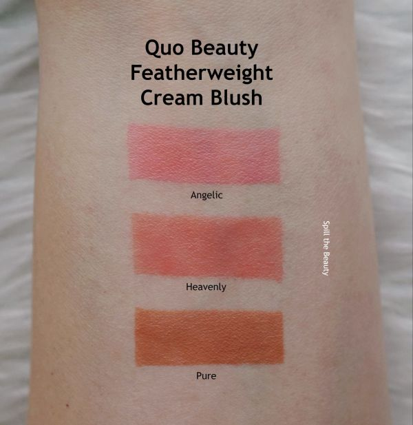 quo beauty swatches featherweight cream blush