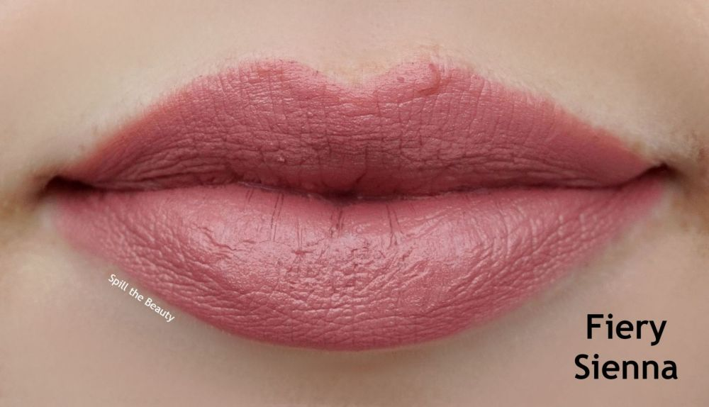 make up for ever fiery sienna lipstick swatches