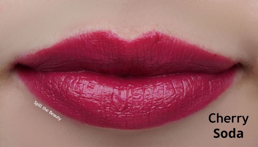 quo beauty lipstick review swatches Cherry Soda