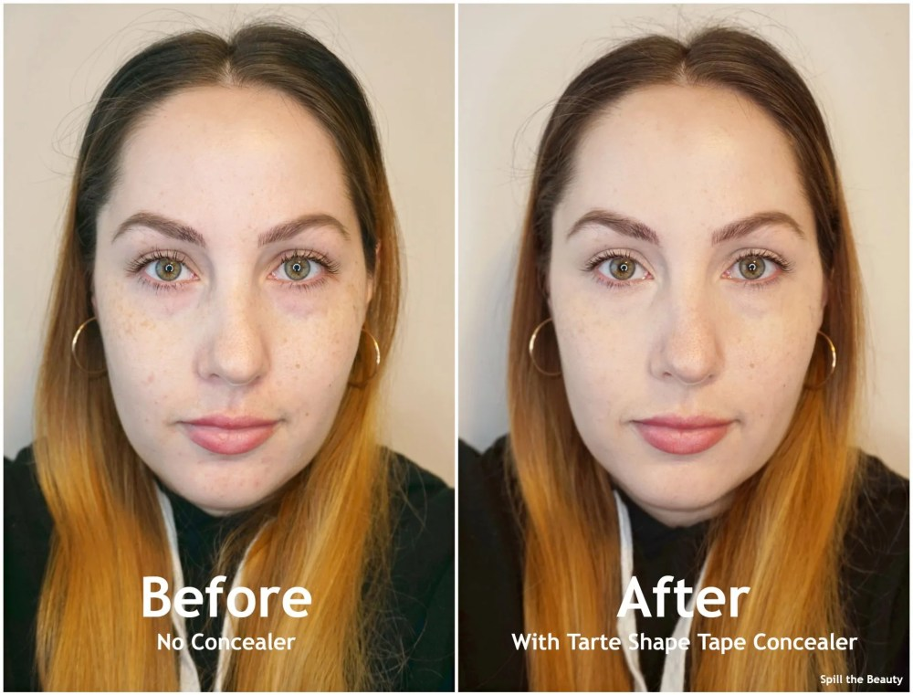 tarte shape tape canada concealer before and after
