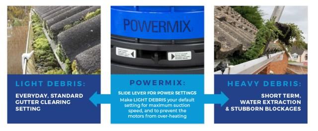 Industrial 85 Powermix feature