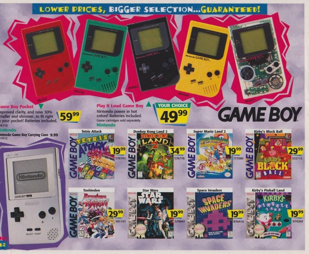 1996 Toys 'R' Us Video Game Ads - Gameboy