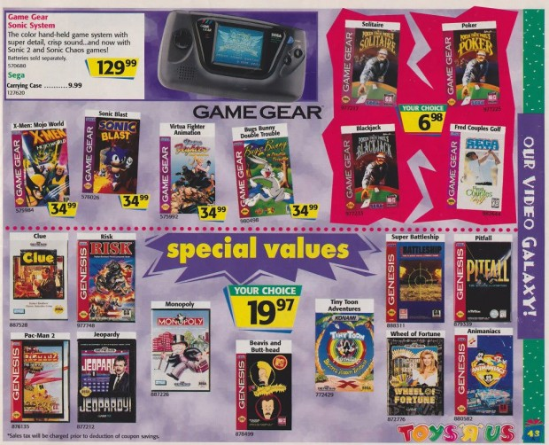 1996 Toys 'R' Us Video Game Ads - Game Gear