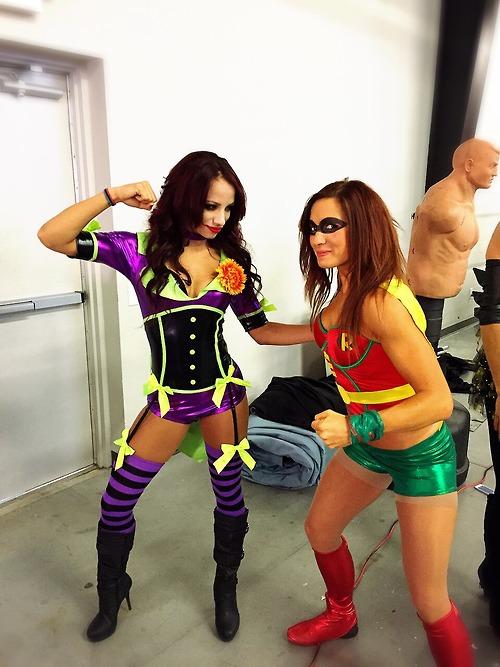 Sasha Banks Joker vs Robin - WWE NXT Diva - Wrestler Cosplay